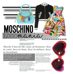 """""""Logomania"""" by janicevc on Polyvore featuring Moschino and logomania"""