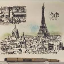 Картинки по запросу Paris sketch sketchbook