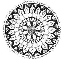 My life Mandala by jhnette Decorative Plates, Black And White, Life, Home Decor, Mandalas, Decoration Home, Black N White, Room Decor, Black White