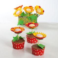 Bloemen Cupcakes - Cupcakes - Recepten | Deleukstetaartenshop.nl