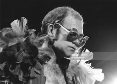 CITY, CA - OCTOBER 9, 1974 Singer Elton John performs at the Cow Palace in Daly City, California, October 9, 1974.