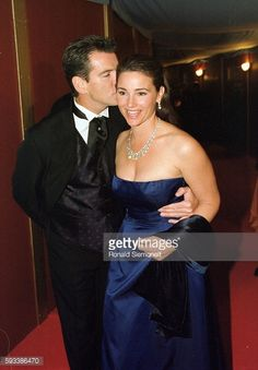 Arrival of Pierce Brosnan and his wife Keely Shay Smith