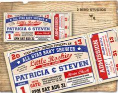 vintage baseball baby shower invitations - Google Search