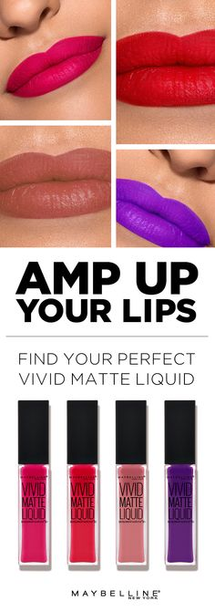 Looking for the best lip color to perfect that pout? Look no further than Maybelline's Vivid Matte Liquid. Keep these tips handy for finding your perfect lipstick shade and learn how to make any hue work for you. With vivid matte shades that are rich, creamy and bold, it's easy to live vividly. Purchase any color from the collection of 10 pigmented shades for when you want to make an unforgettable entrance. Prom, party, or graduation, your look will be photo-worthy.
