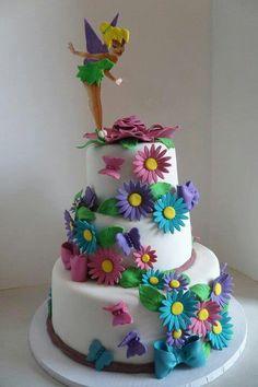 Tinker bell Cake for Madi's birthday!
