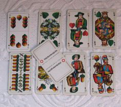 Vintage Deck of  German Playing Cards by ASS by vintagous on Etsy, $12.00