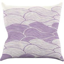 The Lavender Seas by Pom Graphic Waves Throw Pillow
