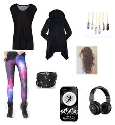 love my geeky leggings by rubygirl645 on Polyvore featuring polyvore fashion style Aéropostale T By Alexander Wang WithChic Sif Jakobs Jewellery Samsung Beats by Dr. Dre clothing