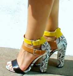 Luxurious Ankle Strap Buckle Pumps