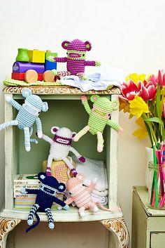 Funky monkeys pattern by Irene Strange from issue 60 of LGC Knitting & Crochet - on sale 11th April 2014