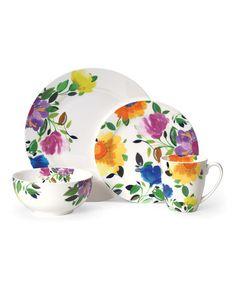 Look what I found on #zulily! Kim Parker Provence Gardens 16-Piece Dinnerware Set #zulilyfinds