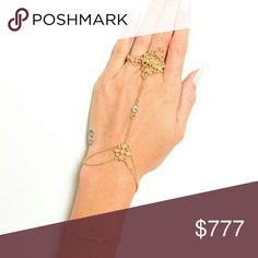 Just arrived! BOHO bracelet/ring set Brand new  Boutique item  Price is firm Bundle to save  Boho bracelet and ring set gold tone with rhinestone details.   Coachella boho Vegas Vacation bracelet rings Jewelry