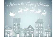 Believe in the Magic of Christmas Graphic Art Print   ninety6nine
