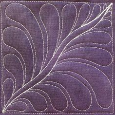#420 - Space Feather - http://www.freemotionquilting.blogspot.com/2013/12/79-free-motion-quilt-space-feather-420.html