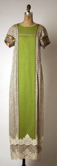 Dress, Geoffrey Beene, spring/summer 1982, American, silk and metallic: