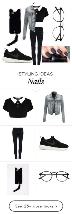 """Untitled #84"" by lolol-gg on Polyvore featuring LE3NO, NIKE and Missguided"