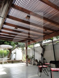 The wooden pergola is a good solution to add beauty to your garden. If you are not ready to spend thousands of dollars for building a cozy pergola then you may devise new strategies of trying out something different so that you can re Small Pergola, Cheap Pergola, Wooden Pergola, Backyard Pergola, Pergola Shade, Pergola Plans, Pergola Kits, Pergola Ideas, Small Patio