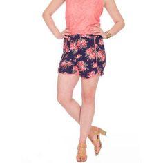 Plus Size Plus Moda Women's Floral Challis Soft Short, Size: XL, Multicolor