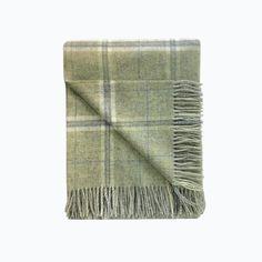 Windowpane Wool Blanket in Sage - James & May – James & May