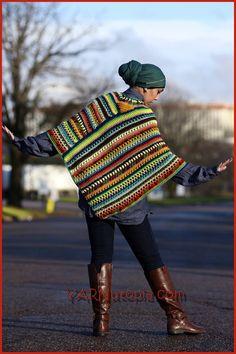 Crochet Tutorial: The Pizzazz Poncho