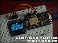 This post show how to program NodeMCU (ESP8266) on Arduino IDE (with ESP8266 core for Arduino ), to display on 0.96 inch 128X64 I...