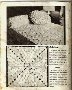 Graça Tricô e Crochê: Crochê Colchas Mantas