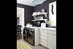 Beautiful Laundry Room Design Ideas and Photos - Zillow Digs. Stackable laundry-any problems with leaks, cleaning out lint from exhaust?