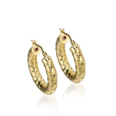 Fifth Season by Roberto Coin Small earrings Small earring in yellow - In Sterling Silver with special finishes in Rose and Yellow gold plating or Black Rhodium. All items featuring the Roberto Coin signature hidden ruby.