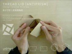 かみの工作所「THREAD LID ネジフタ ANTIPRISM」 designed by azumi mitsuboshi Kirigami, Shape Patterns, Concept Art, Paper Boxes, Packaging, Graphic Design, Shapes, Architects, Wrapping