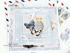 #scrapberrys #card #romantic #shabby #butterflies