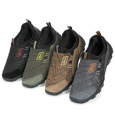 Men Canvas Splicing Soft Latex Insole Breathable Outdoor Sneakers