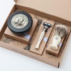 Fancy - Shaving Brush, Razor and Shaving Soap Gift Set by Captain Fawcett Shaving Gift Set, Shaving Brush, Wet Shaving, Gifts For Husband, Gifts For Him, Gift Box For Men, Baskets For Men, Beard Care, Groomsman Gifts