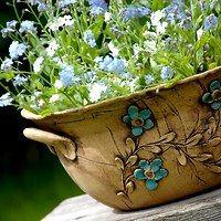 květináče,truhlíky / Zboží prodejce lavender | Fler.cz Concrete Planters, Ceramic Planters, Pottery Bowls, Ceramic Pottery, Vases, Garden Items, Pottery Studio, Ceramic Clay, Bottle Art