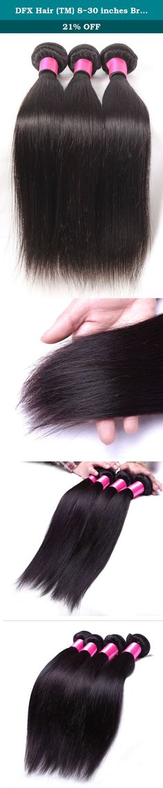 DFX Hair (TM) 8~30 inches Brazilian Virgin Human Hair Extension Silky Straight, Pack of Three, 100g/Bundle, 6A Natural Color Weft (16 18 20). PRODUCT DESCRIPTION Hair Extension Type:Weaving Material:Human Hair Color Type:Natural Color Items per Package:3 Pieces/Order Unit Weight:100g(+/-5g)/piece Texture:Straight Hair Weft:Machine Double Weft Can Be Permed:Yes Human Hair Type:Brazilian Hair Chemical Processing:None Material Grade:6A Grade Virgin Hair Color:Natural color Quality:No…
