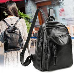 8c304c92b376 100% Genuine leather Women Backpack Female Backpacks Designer Students  School Bags Fashion Genuine Leather Travel