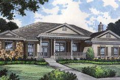 Farmhouse Style House Plan - 4 Beds 3 Baths 2792 Sq/Ft Plan #417-334 Exterior - Front Elevation - Houseplans.com