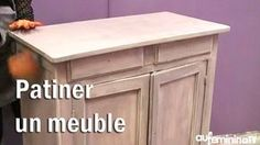 Tuto bricolage : patiner un meuble , Painting Wooden Furniture, Deco Furniture, Upcycled Furniture, Living Room Furniture, Home Furniture, Modern Furniture, Sofa Design, Diy Design, Home Staging