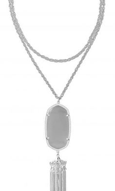 Rayne Necklace Silver Slate