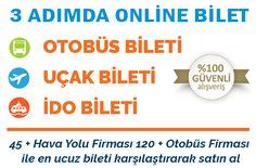 Online Uçak ve Otobüs Bileti 3havalimanı.Com'dan Alınır