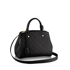 Discover Louis Vuitton Montaigne BB: With numerous carry options, the Montaigne BB is a compact alternative for businesswomen who don't wish to carry too much. And of course it looks beautiful in Monogram Empreinte leather.