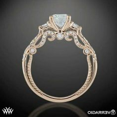 Verragio Engagement Rings Rose Gold - for some reason I'm on an engagement ring kick