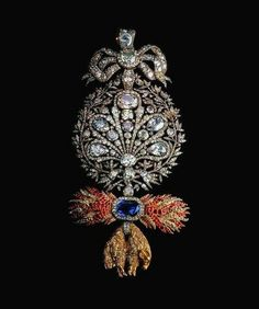 Portuguese crown jewels: Badge of the Golden Fleece Order. 1790.