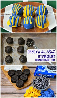 Need a fun and easy dessert for the big footlball game?Make easy Oreo Cookie Balls in your favorite team's colors with this easy tutorial!