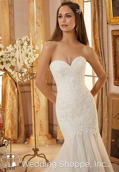 With Chantilly lace for added texture and romance, the Blu by Mori Lee 5475 wedding dress combines modern elegance with classic charm.