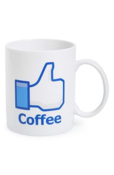 Liking this coffee mug that shows the love for a cup of joe and social media. This will be a cute gift for Christmas!