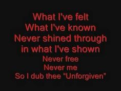 Metallica The Unforgiven Lyrics - YouTube