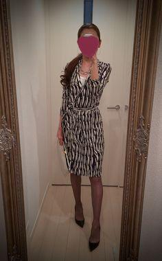 Dress: Diane von Furstenberg Clutch: MARNI Heels: Christian Louboutin