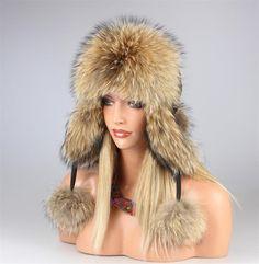 Donna Procione Cappello di Pelliccia Pelo Berretto da Pilota Berretto  Invernale  146 b460c944e2c0