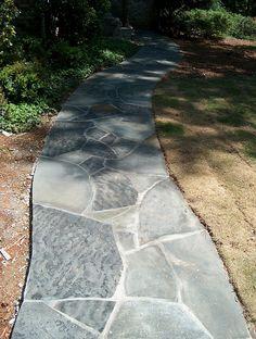 gray crab orchard flagstone walkway   #gray_crab_orchard #flagstone #walkway