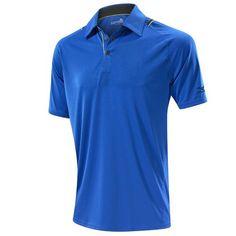 Mizuno Flat Knit Laser Polo Golf Shirt - Royal